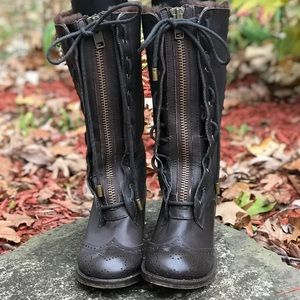 KELSI DAGGER SHEARLING LINED LEATHER BOOTS
